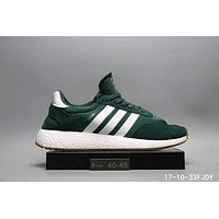 Adidas Iniki Runner Boost Fashion Trending Running Sports Shoes Sneakers Green I-A0-HXYDXPF