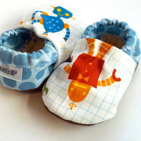 robot shoes boy baby boy shoes blue shoe robot crib shoes soft sole shoes robot blue nerdy shoes baby