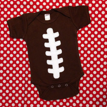 Football Bodysuit - Baby Shower Gift for Dad - Father's Day Gift - New Baby Announcement - Brown Football Bodysuit