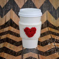 Red Heart Coffee Coozie