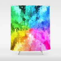 drip paint color of chakra by healinglove Shower Curtain by Healinglove products