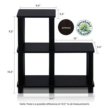 Furinno 14032EX/BK Turn-N-Tube Accent Decorative Shelf, Espresso/Black