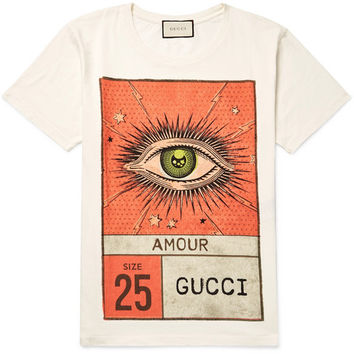 Gucci - Slim-Fit Printed Cotton-Jersey T-Shirt