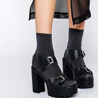 ASOS | ASOS HAMPER Leather Heeled Sandals at ASOS