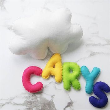 Personalized Baby Room Cloud Wall Hanging for Nursery