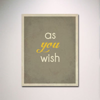 """Typography / The Princess Bride Quote / 11"""" x 14"""" Poster Print / Movie Quote / Minimalist Wall Art"""
