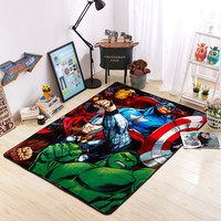 3D flannel mat  iron man avengers captain america hulk raytheon floor mat cotton rugs carpet treads outdoor rug bedside rug