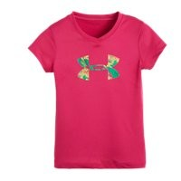 Under Armour Girls' Pre-School UA Jungle Big Logo T-Shirt