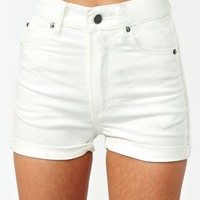 Highway Denim Shorts - White