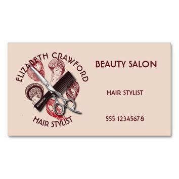 Hair Stylist Hairdresser Or Beauty Salon With Name Business Card