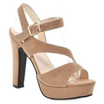 Fashionable Platform and Suede Design Sandals For Women