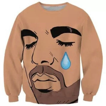 Crying Drake Face Sweatshirt