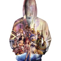 Kingdom Hearts Zip-Up Hoodie