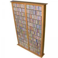 "Bookcase Media Tower - Tall Double (Oak) (76""H x 52""W x 9.5""D)"
