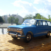 Vintage Russian Moskvitch 426 Car Model Made in USSR