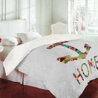 DENY Designs Bianca Green You Make Me Home Duvet Cover, Queen