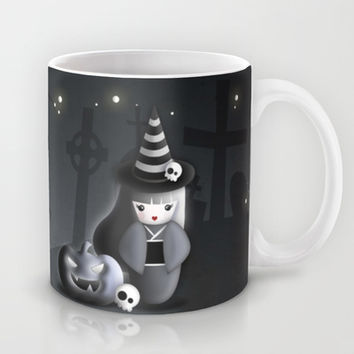Halloween Theme [Japanese Kokeshi Doll as a Witch] Mug by cafelab