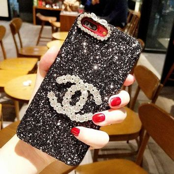 CHANEL 2018 latest trend of fashion iPhone X iPhone 8 plus plus mobile phone case protective sleeve iPhone 6 6s 6plus 6s plus.  F