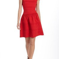 Pintucked Ponte Dress by Girls from Savoy Red 4 Dresses