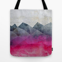 Pink Concrete Tote Bag by Cafelab