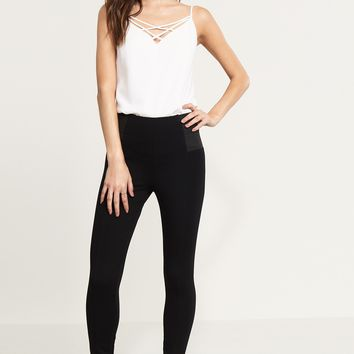 High Rise Legging With Side Details