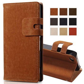 Soft Feel PU Leather Case for iPhone 4 4S Phone Bag Wallet with Stand and Card Holder Luxury Flip Cover For iPhone 4 4S Cases