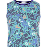 River Island Womens Green tiger print tank top