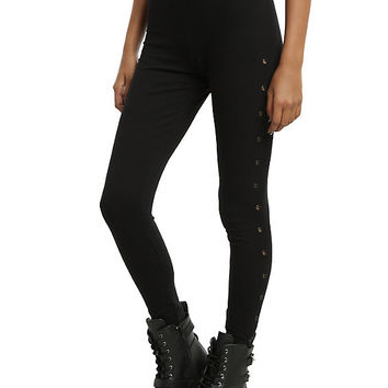 Blackheart Grommet Leggings
