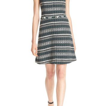 Tory Burch 'Norfolk' Sequin Trim Tweed A-Line Dress | Nordstrom