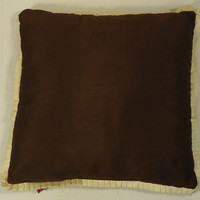 Chelsea Throw Pillow 17in x 17in Brown 19-313cc * Polyester  -- Used