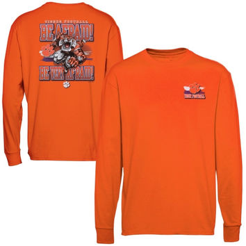 Clemson Tigers Youth In Your Face Long Sleeve T-Shirt - Orange - http://www.shareasale.com/m-pr.cfm?merchantID=7124&userID=1042934&productID=543374516 / Clemson Tigers