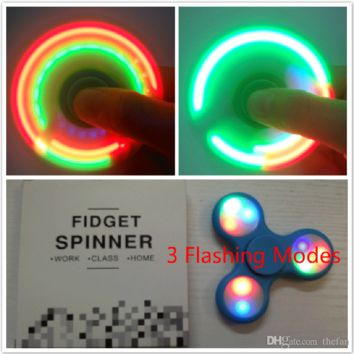 LED Fidget Spinner Hand Spinner with Switch Finger Fidget Spinners Colorful Spinner Toy Quitting Bad Habits Stress Reducer 360 Spinners