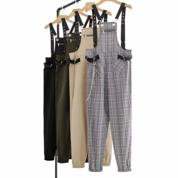 FREE SHIPPING Fall slimming casual wear with tights and suspenders