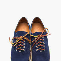 Yuketen Navy Blue Leather Handfinished Hermosa Sneakers for men | SSENSE