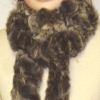 Imported Grey Color Two Strand Luxurious Rabbit Fur Scarf for Women and Teens Offered in Combination