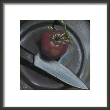 The Fine Art Of Vegan Butchery Framed Print By Amy-elyse Neer