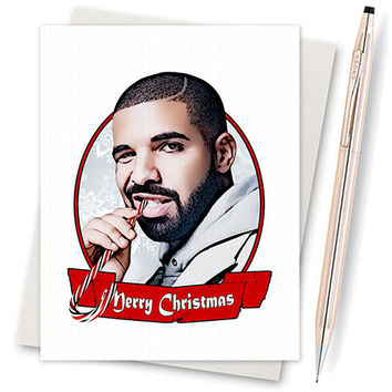 Drizzy Drake Christmas Card. Funny Christmas Card. Christmas Card Funny. Handmade Christmas. Christmas Gifts. Kanye West. Hotline Bling OVO
