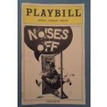 Noises Off Playbill with Patti LuPone + Peter Gallagher