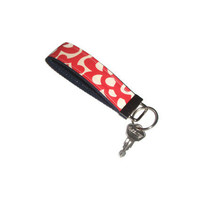 Wristlet Key Chain Fob Ring made with Amy Butler Dahlia  Fabric