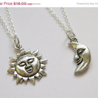 Summer Sale Save15% 2 Sun And Moon Best Friends Necklaces BFF