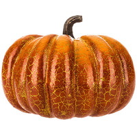 Orange & Gold Crackle Foam Pumpkin | Hobby Lobby