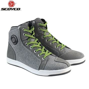 Motorcycle Boots Men Road Street Casual Shoes Bato Motocross Boots Breathable Moto Protective Gear Breath
