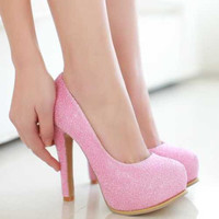 Princess Shoes Glittering Sequined Fashion y Summer Women Pumps Inside Platform High Heel Shoes Quality Ladies Wedding Shoes Alternative Measures