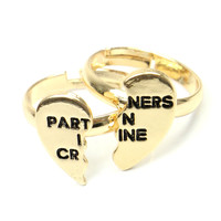 PARTNERS IN CRINE RING SET