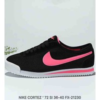 NIKE CORTEZ 72 SI Classic Forrest Breathable Retro Running Shoes F-MLDWX Black