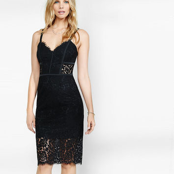 Piped Lace Sheath Dress