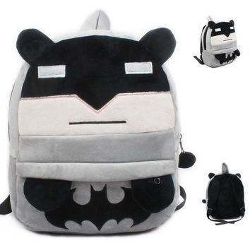 Toddler Backpack class Cute Batman Cartoon Backpacks for 3-4 years old Kindergarten Baby Boys Schoolbag Large Size Toddler Plush Satchel Gifts Toy Bags AT_50_3