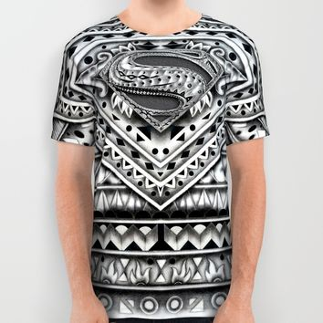 Hope sign Aztec pattern All Over Print Shirt by Greenlight8