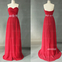 red prom dresses, long red dress, homecoming dress, long prom dresses, strapless prom dress, homecoming dress prom, RE341