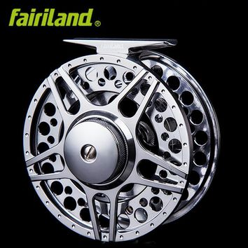 "5/6 90mm 3.54"" 2BB+1RB METAL fly wheel LARGE ARBOR design PRECISION MACHINED fly reel from BAR-STOCK aluminum fishing reel"